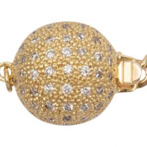 11 mm Diamond Ball Single Strand Necklace Clasp