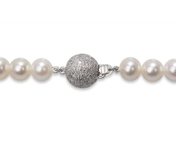 12 mm Diamond Ball Clasp for Pearl Bracelet