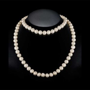 54 inch endless necklace with mystery pearl