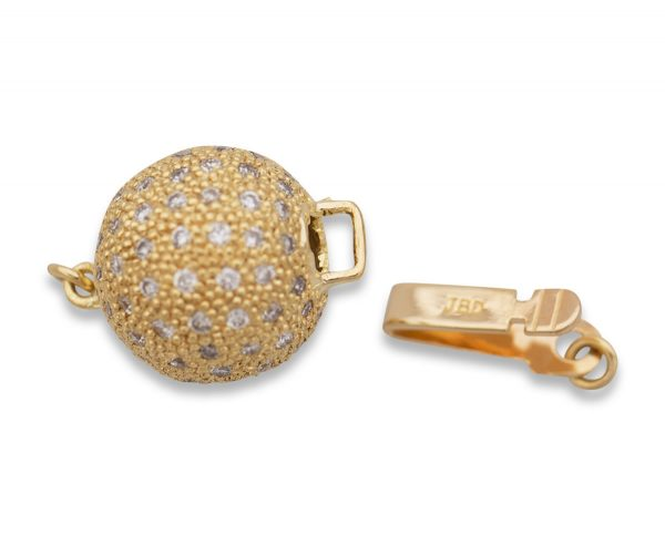 .65ct 10mm Diamond Ball Bracelet Clasp