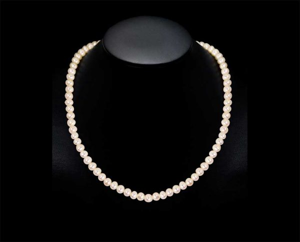6mm Triple Freshwater Pearl Necklace -AA Quality