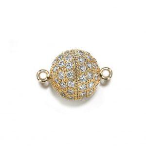 7mm Diamond Ball Bracelet Clasp