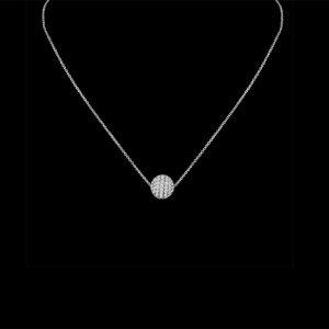 8mm Diamond Ball Necklace