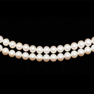 8mm Freshwater Double Strand Necklace - AA Quality