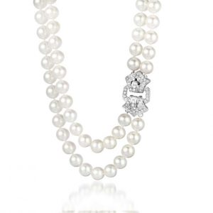 Antique Side Buckle Pearl Necklace