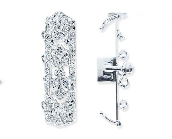 Long and Narrow Diamond Necklace Clasp