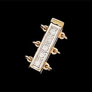 Bayonet Diamond Pearl Bracelet Clasp
