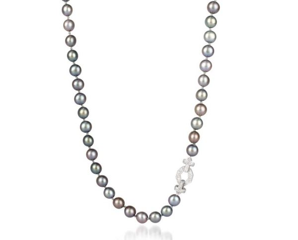 Black 6mm Pearl Octagon Necklace
