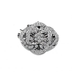 Blooming Flower Diamond Necklace Clasp
