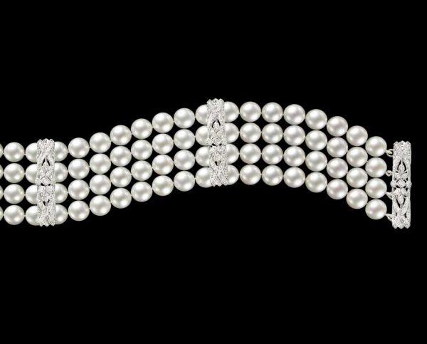 Classic Diamond Pearl Bracelet
