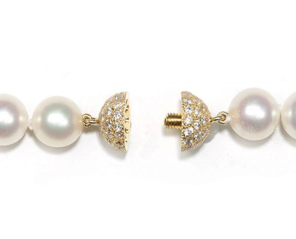 8mm Diamond Ball Clasp for Pearl Bracelet