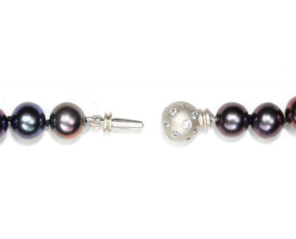 Extra Large Diamond Set Ball Necklace Clasp
