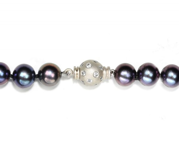 Extra Large Diamond Set Ball Bracelet Clasp