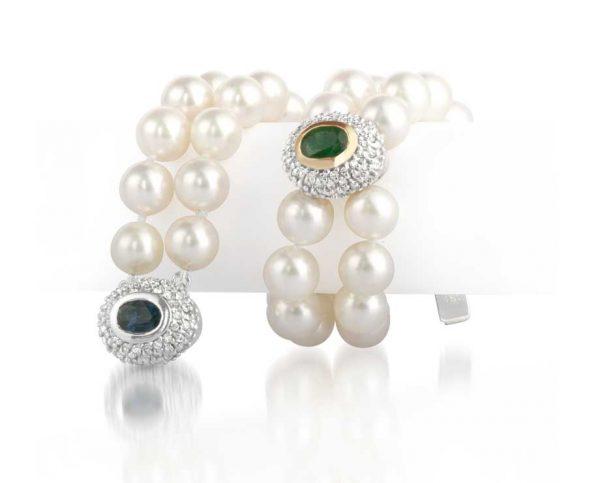 Gemstone Double Pearl Bracelet