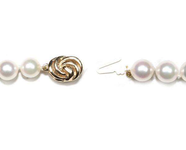 Golden Wire Pearl Necklace Clasp
