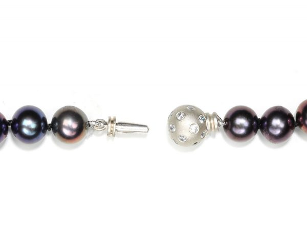 Bracelet Clasp : Medium Random Set Diamond Ball