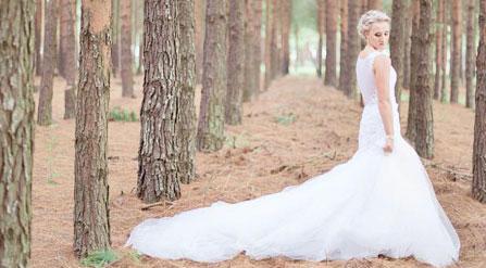 bride wearing pearls