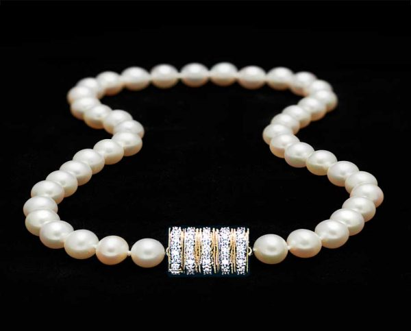 Freshwater Pearls with Five Rondels Clasp