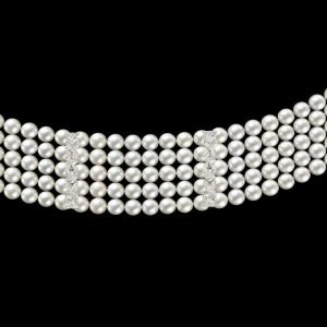 Regina Diamond and Pearl Bracelet