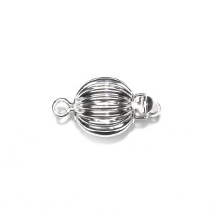 Ridged Golden 7mm Ball Clasp for Pearl Necklace