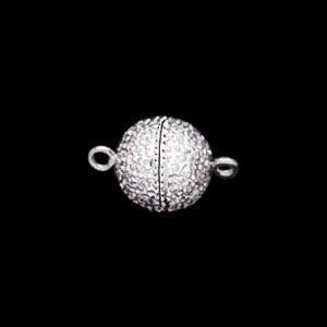 Center Screw Diamond 10mm Ball Bracelet Clasp