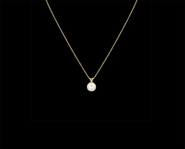 Yellow Silver Pearl Pendant