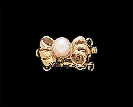 Golden Bow Double Row Bracelet Clasp