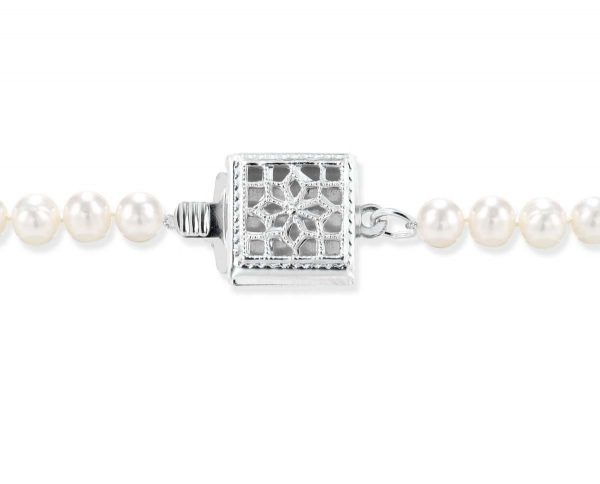 Single Strand Silver Box Bracelet Clasp