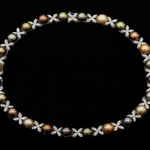 South Sea and Diamond Pearl Necklace