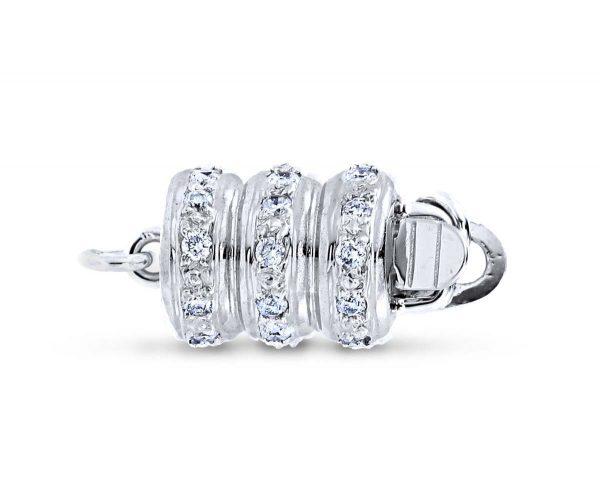 Pearl Bracelet Triple Rondel Clasp