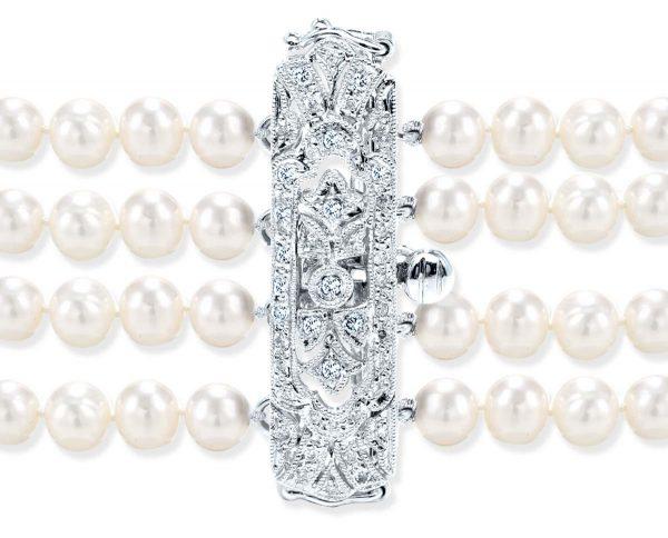 Antique Style Pearl Bracelet Clasp