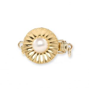 Budding pearl necklace clasp