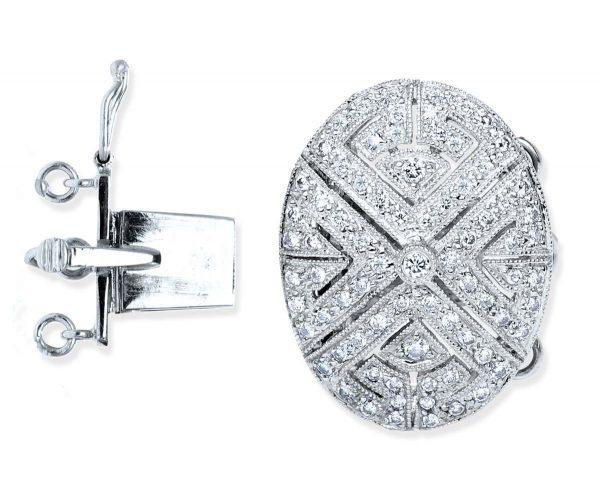 Diamond Oval Necklace Clasp