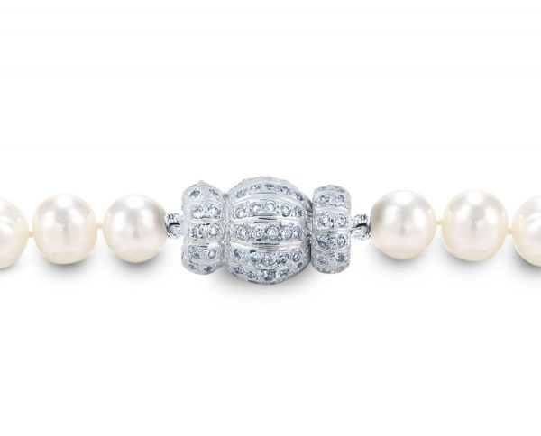 Diamond Striped Small Ball Clasp for Necklace