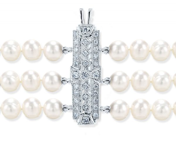Diamond Studded Clasp for Pearl Necklace
