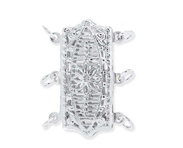 Filigree Triple Strand Bracelet Clasp