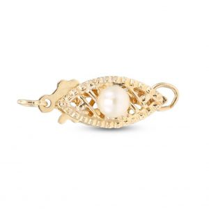 Filigree Pearl Fishhook Necklace Clasp