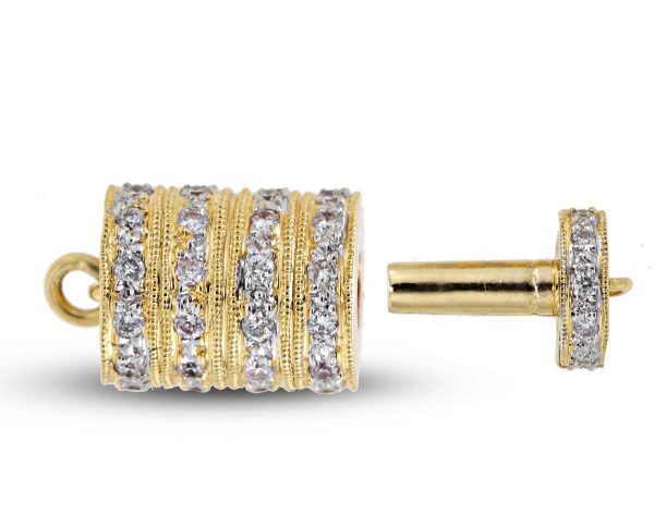 Five Rondels Clasp for Pearl Bracelet