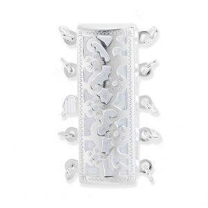 Flower 5 Strand Pearl Bracelet Clasp