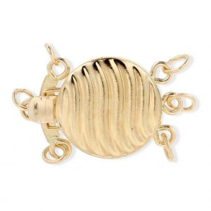 Golden Shell Clasp for Triple Strand Necklace