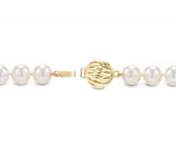 Golden Wire Ball Pearl Bracelet Clasp