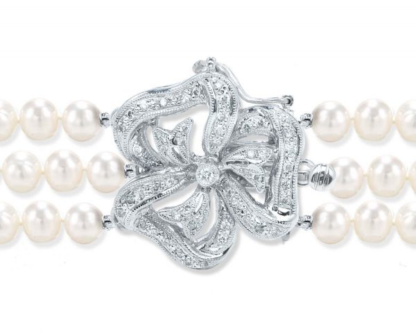 Large Flower Diamond Necklace Clasp