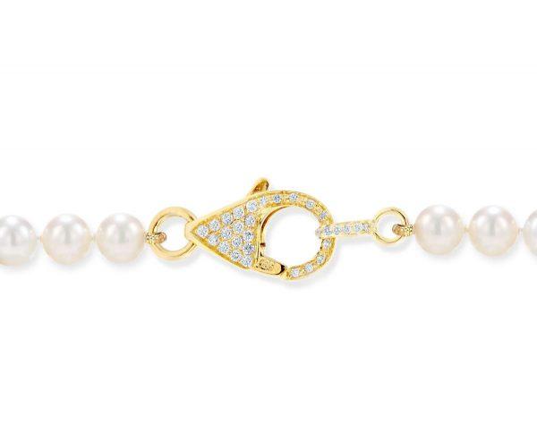 Medium Diamond Lobster Clasp for Pearl Bracelet