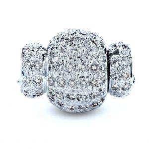 Pearl Bracelet Medium Diamond Rondel Ball Clasp