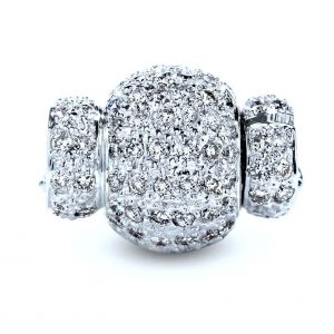 Medium Diamond Rondel Ball Necklace Clasp