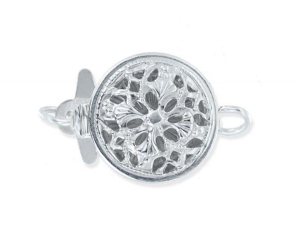 Mini Flower Silver Bracelet Clasp