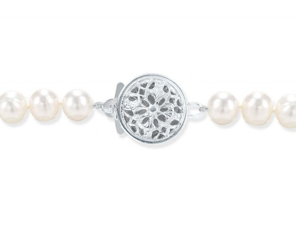 Mini Flower Silver Necklace Clasp