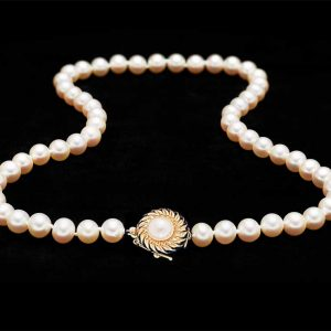 7mm Pearl Necklace with Royal Pearl Clasp