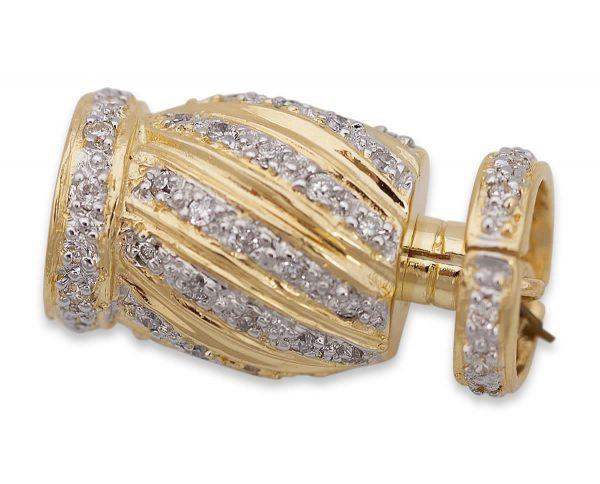 Pearl Bracelet Diamond Candy Stripe Clasp