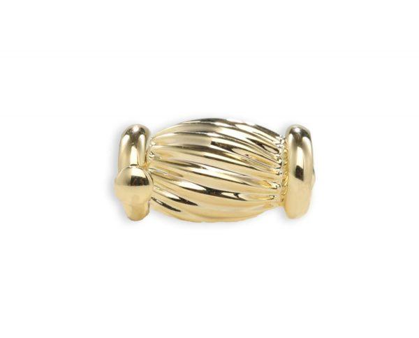 Golden Barrel Clasp for Pearl Bracelet
